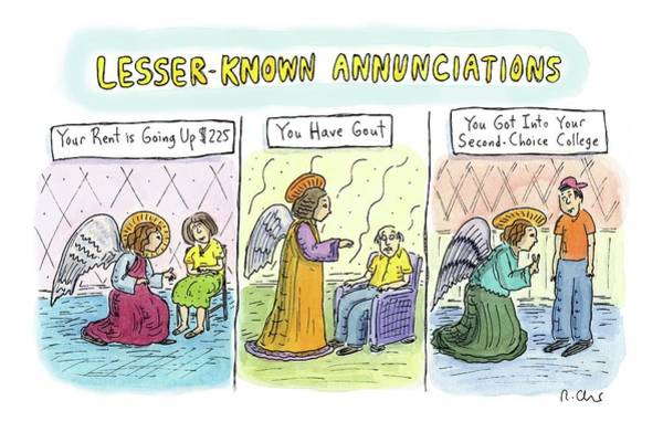 October 3rd Drawing - In The First Panel by Roz Chast