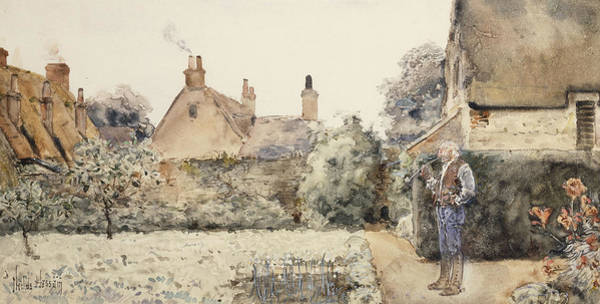 Posture Painting - In The Garden by Childe Hassam