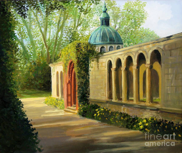 Wall Art - Painting - In The Gardens Of Sanssouci by Kiril Stanchev