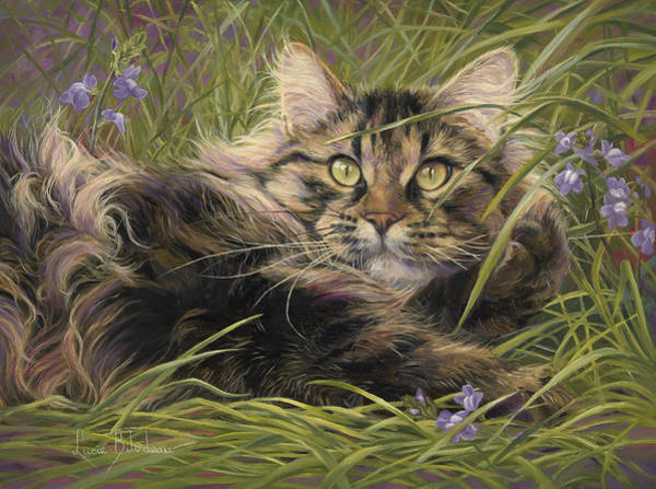 Painting - In The Grass by Lucie Bilodeau