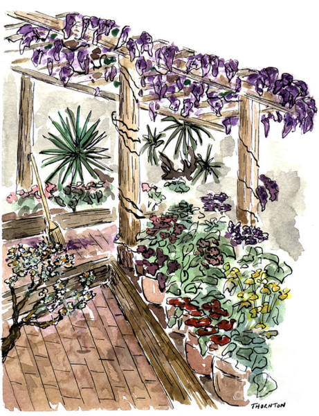 Painting - In The Greenhouse by Diane Thornton