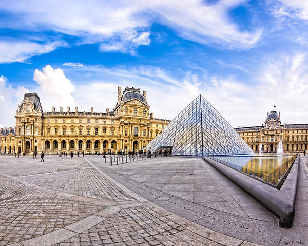 Photograph - In The Heart Of The Louvre - Paris Landmarks by Mark E Tisdale
