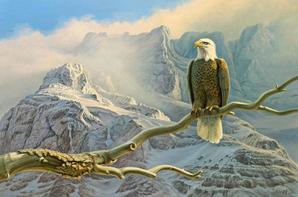 Wall Art - Painting - In The High Country-eagle by Paul Krapf