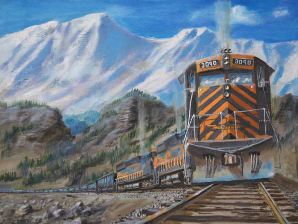 Wall Art - Painting - In The High Country  by Christopher Jenkins