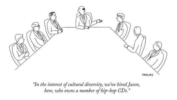Trends Drawing - In The Interest Of Cultural Diversity by Alex Gregory