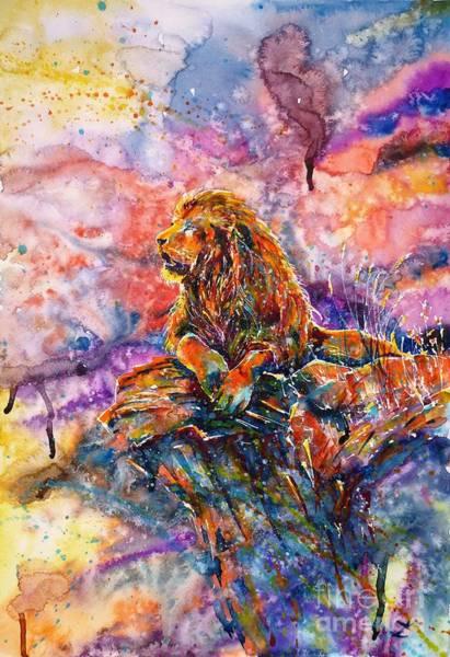 Wall Art - Painting - In The Jungle... by Zaira Dzhaubaeva