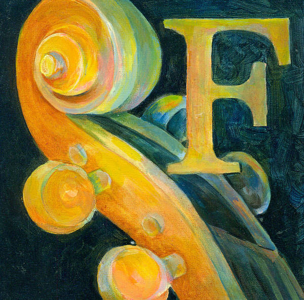 Wall Art - Painting - In The Key Of F by Susanne Clark