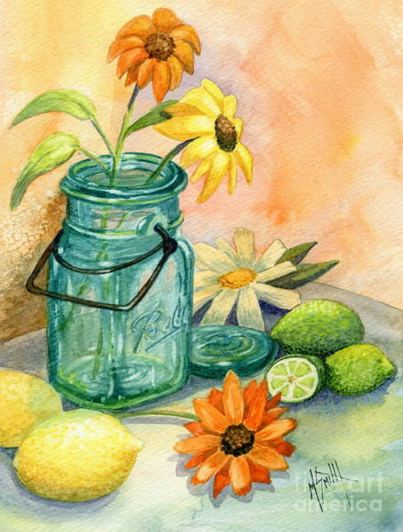 Lid Painting - In The Lime Light by Marilyn Smith