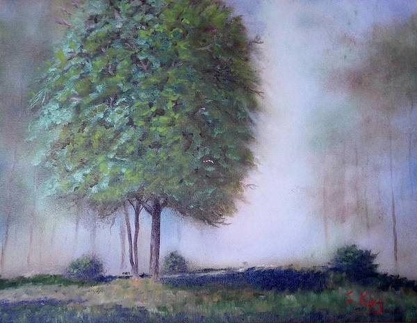 Stephen King Painting - In The Mist by Stephen King