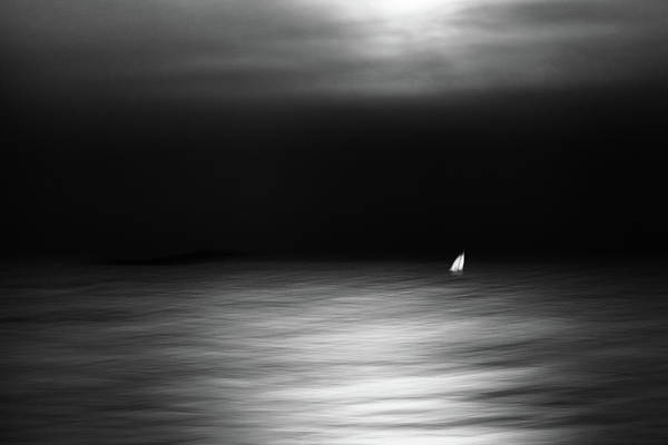 Sail Boat Photograph - In The Moonlight by Gustav Davidsson