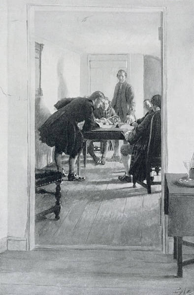 American Revolution Photograph - In The Old Raleigh Tavern, Illustration From At Home In Virginia By Woodrow Wilson, Pub. In Harpers by Howard Pyle