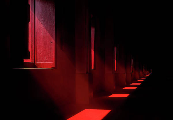 Wall Art - Photograph - In The Red Temple by Ekkachai Khemkum