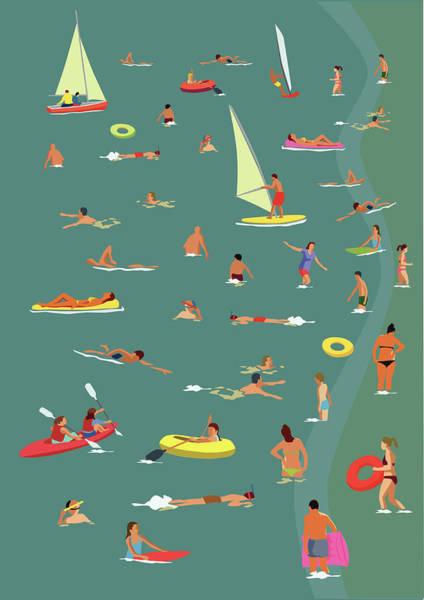 Luxury Yacht Digital Art - In The Sea by Smartboy10