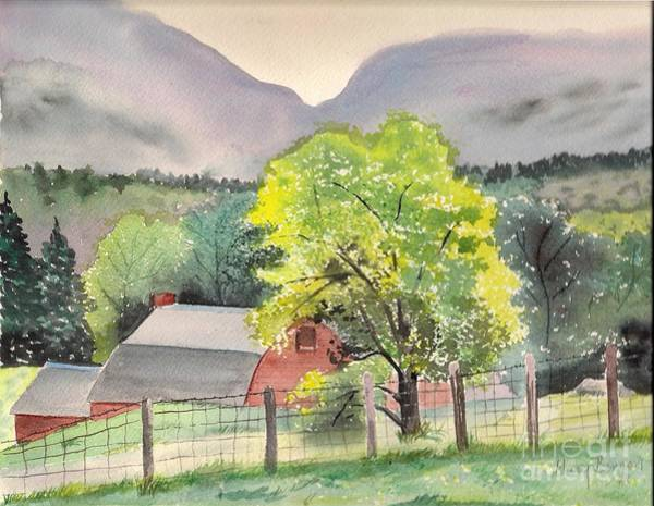 Adirondack Mountains Digital Art - In The Shadow Of Indian Pass. by Mary Benson