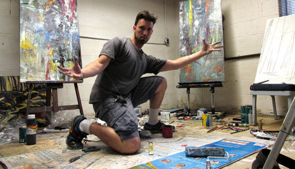 Painting - In The Studio by John Jr Gholson