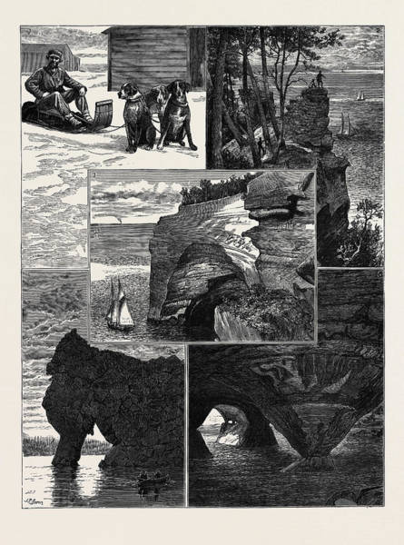 Basalt Drawing - In The United States by American School