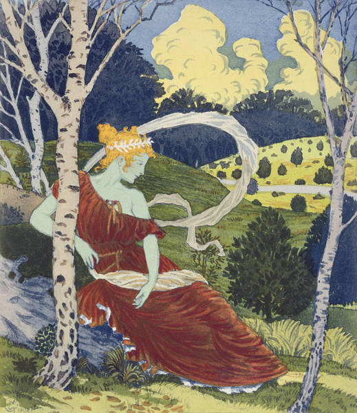 Les Drawing - In The Woods, From Lestampe Moderne by Eugene Grasset