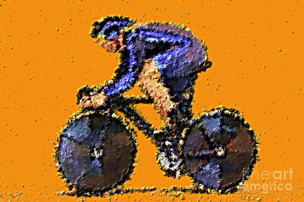 Bike Racing Painting - In The Zone by Sergio B