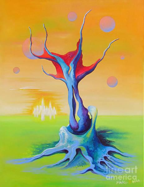 Painting - In Third Dimension by Alexa Szlavics
