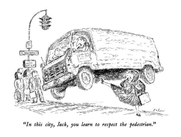 Truck Drawing - In This City by Edward Koren