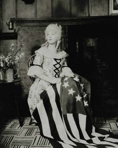 Plant Photograph - Ina Claire As Betsy Ross by Charles Sheeler