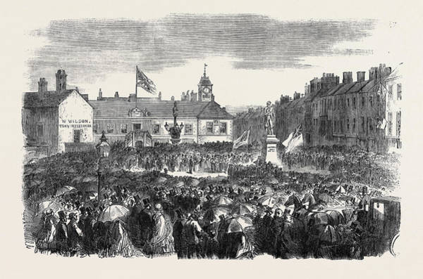 Steel Drawing - Inauguration Of The Steel Monument At Carlisle On The 16th by English School