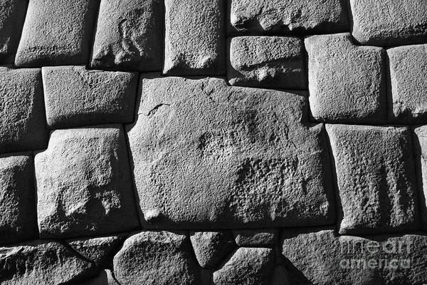Photograph - Inca Stonework by James Brunker