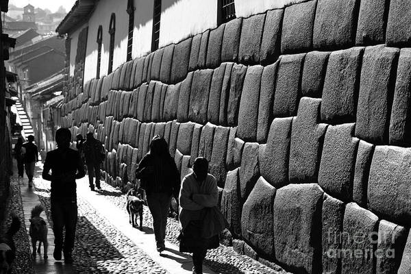 Photograph - Inca Street Cusco by James Brunker