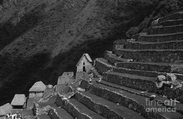 Photograph - Inca Terraces At Machu Picchu by James Brunker