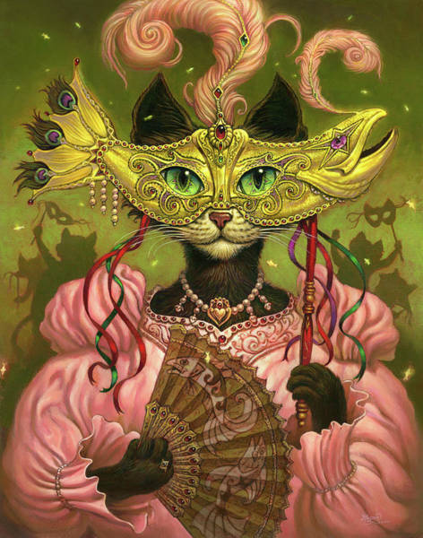 Card Painting - Incatneato by Jeff Haynie