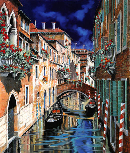 Dark Green Wall Art - Painting - Inchiostro Su Venezia by Guido Borelli