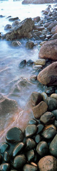 Roca Wall Art - Photograph - Incoming Tide Meets A Cobblestone by Panoramic Images