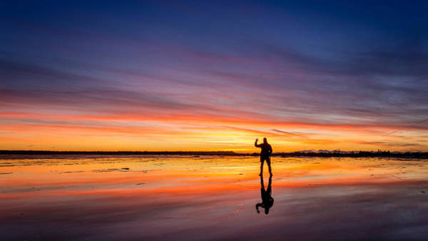 Photograph - Incredible Sunset At Boundary Bay by Pierre Leclerc Photography