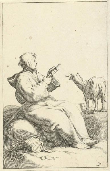 Herd Drawing - Incumbent Goatherd, Frederick Bloemaert, Abraham Bloemaert by Frederick Bloemaert And Abraham Bloemaert