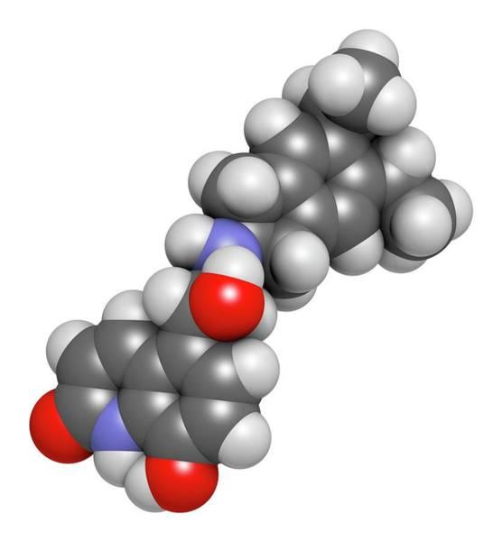 Pharma Wall Art - Photograph - Indacaterol Copd Drug Molecule by Molekuul