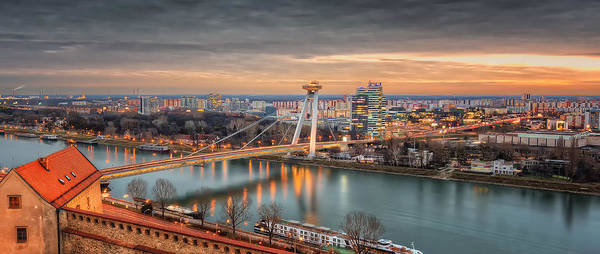 Donau Photograph - Independence Day Bratislava by Nico Trinkhaus