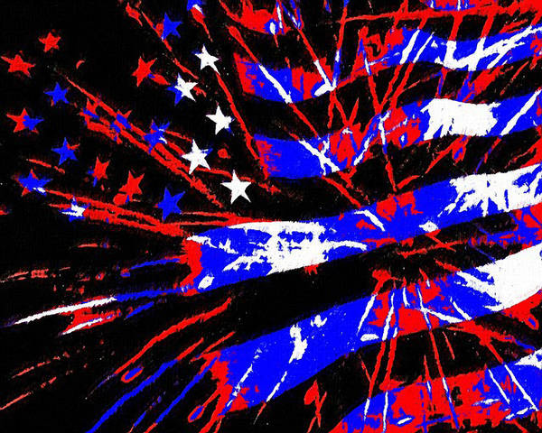 Wall Art - Painting - Independence Day by Kenneth Krolikowski