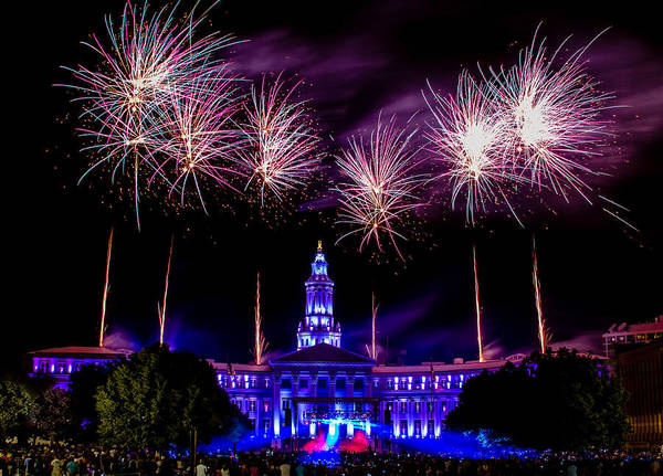Photograph - Independence Eve In Denver Colorado by Teri Virbickis