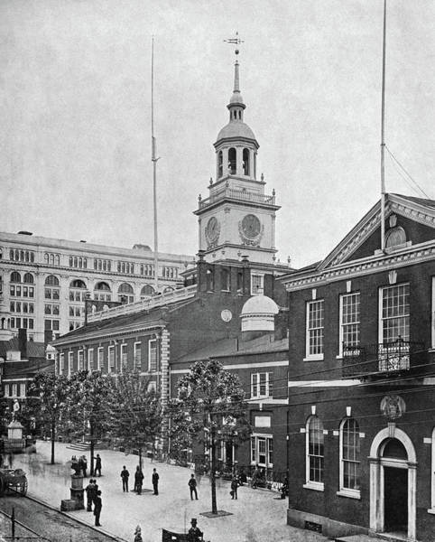 Photograph - Independence Hall, C1890 by Granger