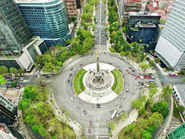 Mexico Photograph - Independence Monument In Mexico City by Orbon Alija
