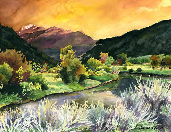Rocky Mountains Painting - Independence Pass by Anne Gifford