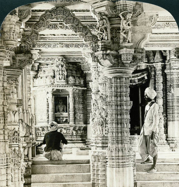 Painting - India Dilwara Temple, C1907 by Granger