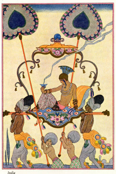 Stencil Painting - India by Georges Barbier