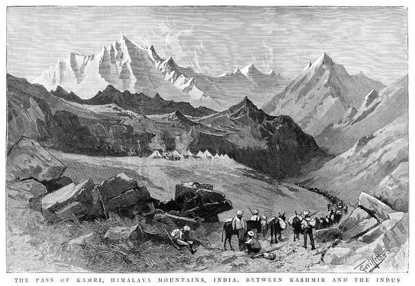 Wall Art - Painting - India Himilayas, 1885 by Granger