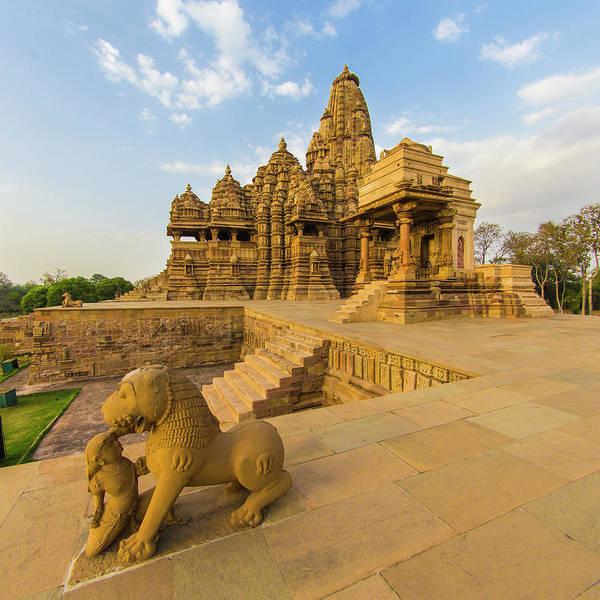 Wall Art - Photograph - India Hindu Temples At Khajuraho by Ralph H. Bendjebar