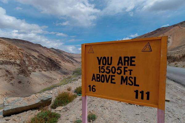 Clark Photograph - India, Jammu & Kashmir, Ladakh A Road by Ellen Clark