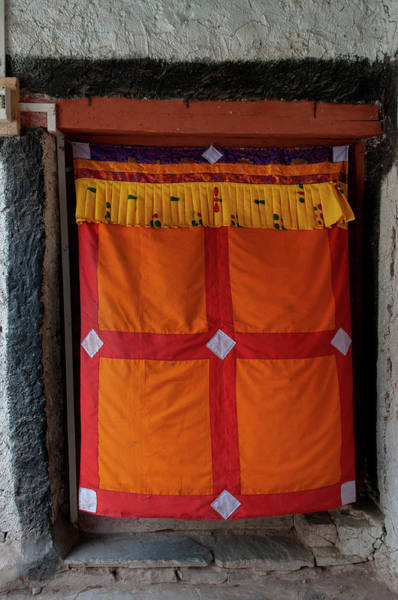 Wall Art - Photograph - India, Jammu & Kashmir, Ladakh, Doorway by Ellen Clark