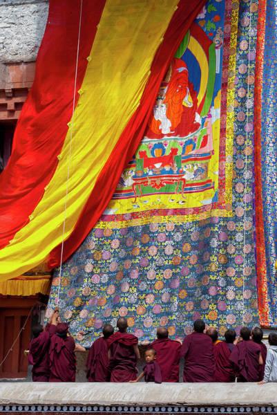 Clark Photograph - India, Jammu & Kashmir, Ladakh, Monks by Ellen Clark