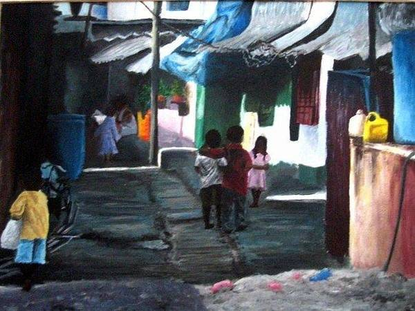 Wall Art - Painting - India by Lauren  Pecor