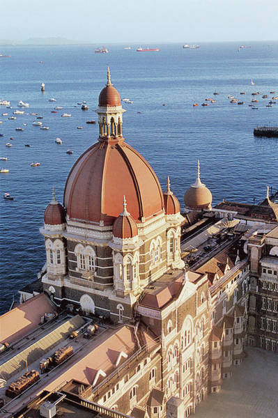 Nautical Photograph - India, Maharashtra, Mumbai, View Of Taj Hotel by Tim Beddow